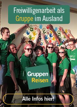 Freiwilligenarbeit als Gruppenreise