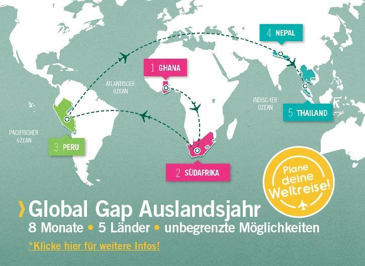 Global Gap: Im Auslandsjahr auf Weltreise!