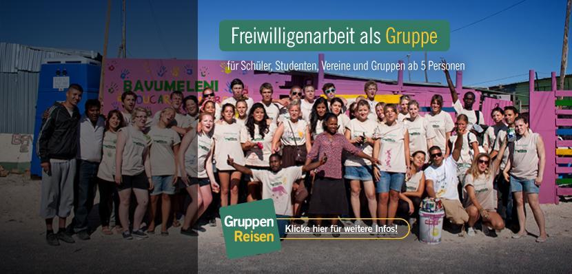 Freiwilligenarbeit als Gruppenreise im Ausland