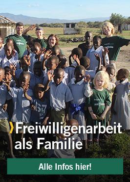 Freiwilligenarbeit als Familie