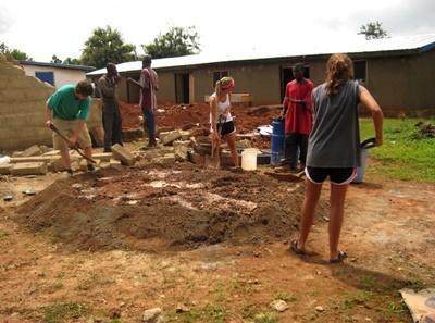 Hausbau-Projekt in Ghana