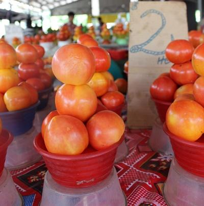 Einheimische Früchte in Samoa, Südsee