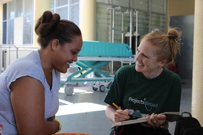 Freiwillige im Ernährungs-Projekt auf Samoa, Südsee