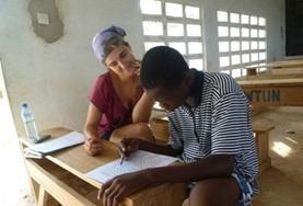 Übung macht den Meister im Logopädie - Praktikum in Togo.