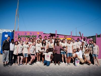 Gruppenbild von jugendlichen Freiwilligen