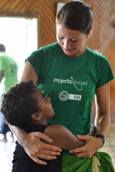 Leiste Freiwilligenarbeit in unserem Sozialarbeits – Projekt auf den Fidschi – Inseln