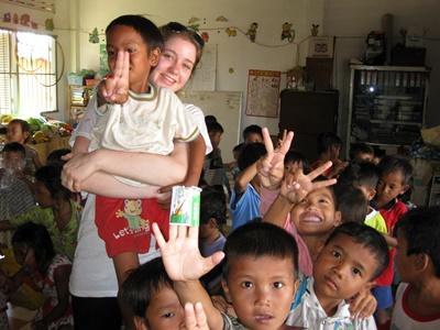 Sozialarbeit mit Kindern in Kambodscha