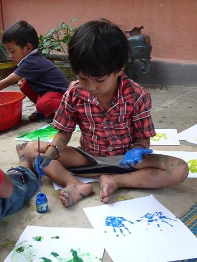 Sozialarbeit mit Kindern in Nepal