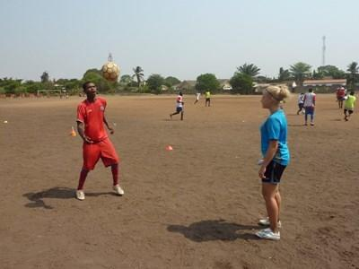 Sport unterrichten in Ghana