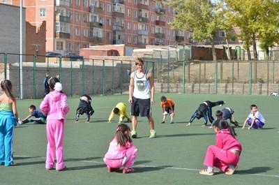 Sport unterrichten in der Mongolei