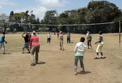 Sport unterrichten in Tansania