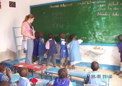 Unterrichten im Senegal