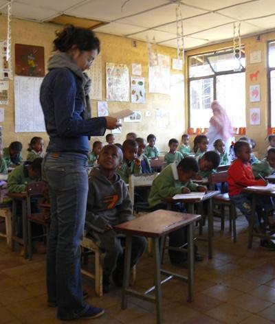 Englisch-Unterricht in Äthiopien