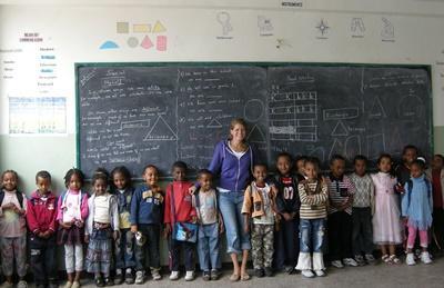 Unterrichten in Äthiopien