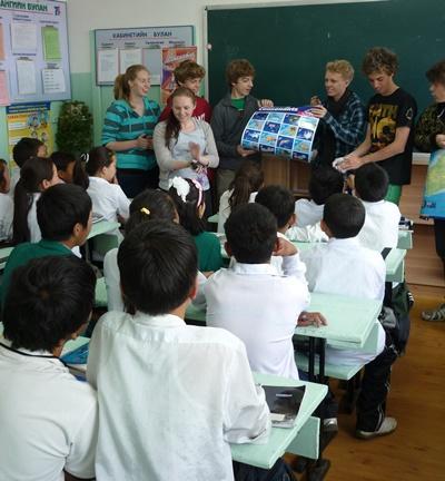 Unterrichts-Projekt in der Mongolei