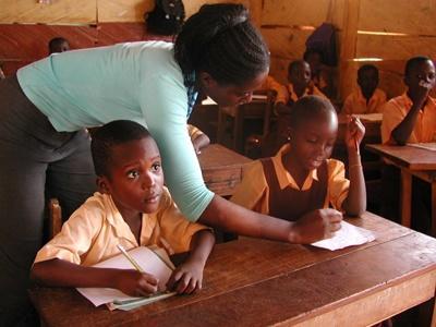 Unterrichten in Ghana