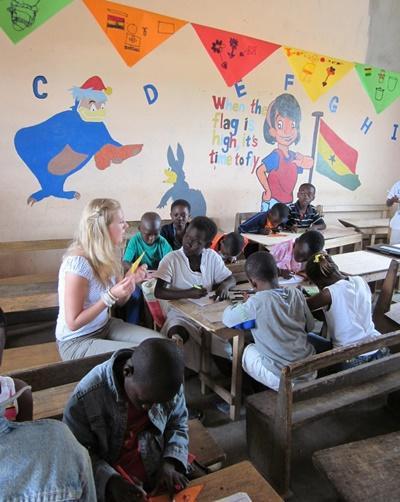 Unterrichts-Projekt in Ghana