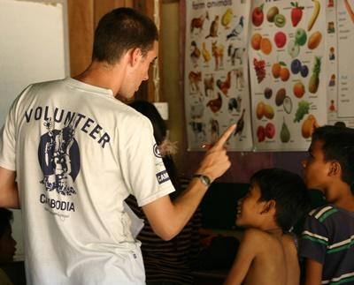 Unterrichten in Kambodscha