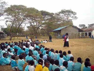 Unterrichten in Kenia