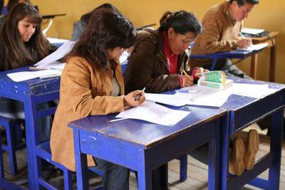 Im Unterrichts-Projekt in Peru bilden wir Lehrer im Fach Englisch weiter