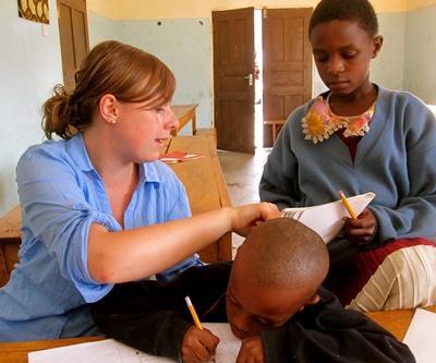 Unterrichten in Tansania
