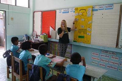 Unterrichte während deiner Freiwilligenarbeit Englisch in Thailand