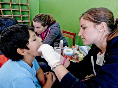Krankenpflegepraktikantin in Peru