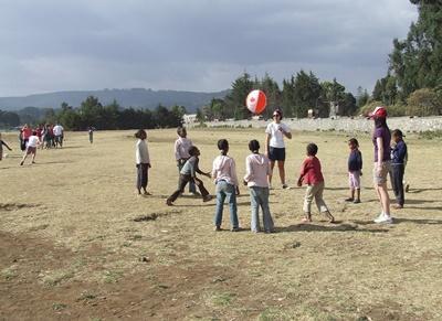 Sport unterrichten in Äthiopien