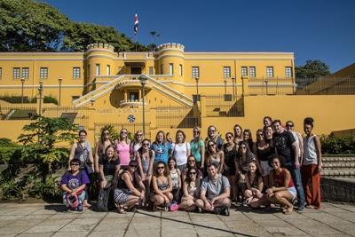Freiwillige bei einem Ausflug in San Jose Costa Rica