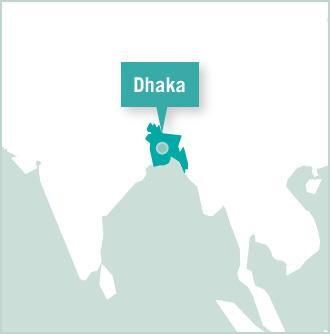 Map of Bangladesch