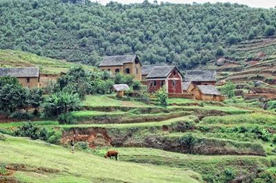 Eine ländliche Gegend in Madagaskar