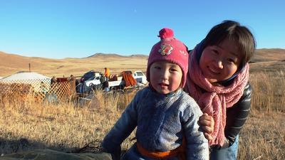 Lebe im Nomaden-Projekt mit einer Familie in der mongolischen Steppe