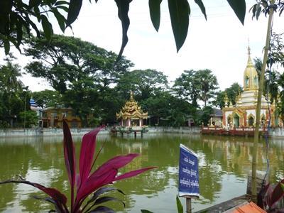 Ein Schrein am See in Dala, unserem Projekt-Standort in Myanmar