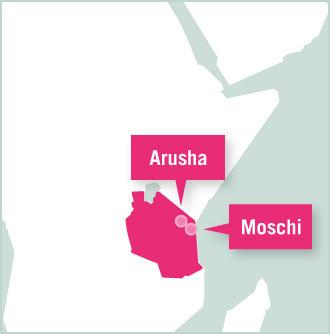 Map of Tansania